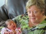 Gayle with her youngest granddaughter, Aria.